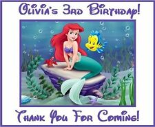 (9)Personalized Little Mermaid Party Stickers,Birthday Favors Labels Supplies