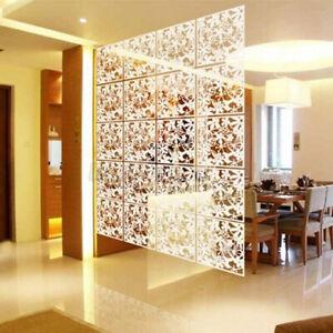 12X Hängende Leinwand Raumteiler Wandpaneele Trennwand Vorhang PVC Dekoration