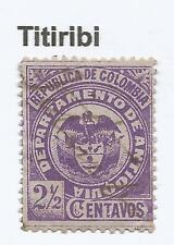 "ANTIOQUIA. 1892. 2½c Violet on Lilac. SG: 91. Used ""Titiribi""  Pen Cancel."