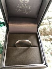 Vintage Platinum Ring Band 1950s