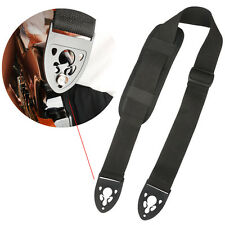 Black Poly Guitar Strap Belt with Shoulder Pad Lock End for Electric Guitar Bass