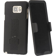 Samsung Galaxy Note 5 - HARD HOLSTER KICKSTAND CASE COVER with BELT CL