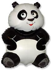 "Big Panda Teddy Bear Kung Fu 33"" by 22""  Foil Balloon - Helium or Air Fill"
