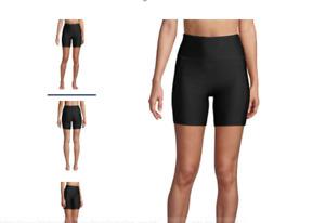 "Lands' End Chlorine Resistant High Waisted 6"" Bike Swim Shorts Size 18 XL UPF 50"