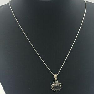 925 Silber Kette - mit Anhänger - L: ca. 47 cm