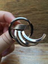 Big Vintage Gold Swirl Metal Brooch/Statement/Abstract/Large/Kitsch 1960's/70's