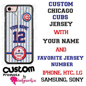 CHICAGO CUBS PHONE CASE COVER FITS iPHONE SAMSUNG LG Moto GOOGLE etcNAME&NUMBER