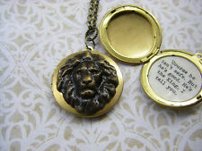 "Aslan Narnia Locket ""Course he isn't safe. But he's good. He's the king."""