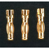 Great Planes GPMM3114 Gold Plated Bullet Connector Male 4mm (3)