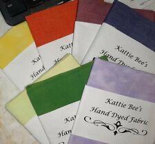 7 Piece Fat Quarter Bundle - Fabric Hand Dyed by Kattie Bee's