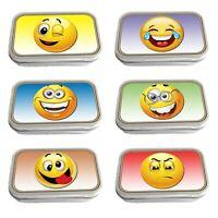 Smiley Face Emojis Slim Hinged 1oz Tin Tobacco Storage Choose Your Design