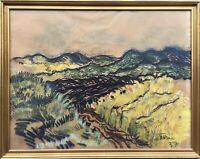 Nordische Dünenlandschaft Expressiv Skandinavien 1937 signiert Ölkreide 55 x 70