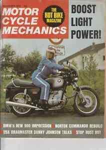 BMW R90S Impression,Norton Commando Engine Rebuild,Mick Grant Yamaha TZ350 Test