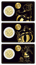 FRANKREICH 3x2 EURO 60 JAHRE ASTERIX - ASTERIX, OBELIX UND IDEFIX 2019 COINCARD