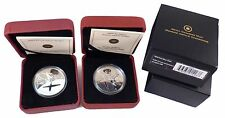Lot of 2009 Canadian Silver Dollar Proof & UNC Set 100th Ann of flight in Canada