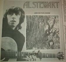 AL STEWART Zero She Flies 1970 UK Press ADVERT 7x7 inches