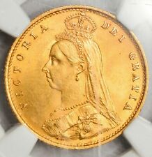 1883 Queen Victoria Gold Shield Half Sovereign