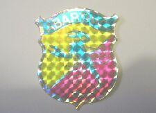 VECCHIO ADESIVO / Old Sticker RALLY ABARTH & C. (cm 6x7) SCORPIONE
