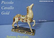 STATUINA CAVALLO IMPERIALE 10 X 9 CM Gold Decò Regalo Bomboniera Maxi Idea Bijou