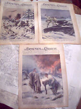 334) 1940 GUERRA TEDESCA IN FINLANDIA LOTTO DI 3 RIVISTE DOMENICHE DEL CORRIERE