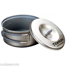 NEW Evernew Titanium Non Stick 0.6L 600ml Pot w/Lid ECA421 Cookset Backpacking