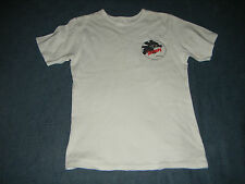 Disney Vintage Lilo & Stitch Logo T Shirt White 34 '' chest GC + window sticker