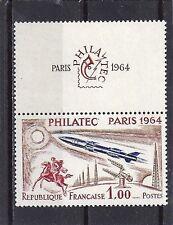 TIMBRE  NEUF LUXE °° N° 1422 PHILATEC PARIS 1964 AVION