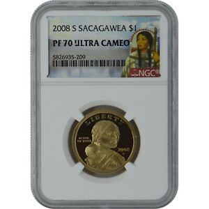 2008-S Sacagawea Proof One Dollar Coin NGC PF70 Ultra Cameo