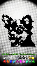 Chihuahua Hundeaufkleber Dog Hund Auto Aufkleber Sticker 10cm x 9cm