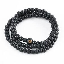 6mm Prayer Bead Sandalwood Buddhist Buddha Meditation Mala Bracelet Necklace