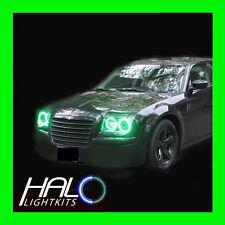 2005-2010 CHRYSLER 300C GREEN PLASMA LIGHT HEADLIGHT HALO KIT 4 RINGS by ORACLE