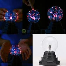 New Magic USB Glass Plasma Static Ball Sphere Lightning Lamp Light-Show US