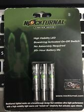 Nockturnal-s Lighted Nocks 3pk Green Illuminated