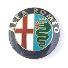 2PCS Alfa Romeo METAL Classic Emblems Badge 74mm 147 156 GT 159 Brera Mito