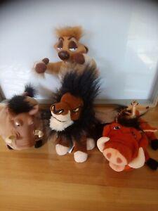 Lot divers peluches vintages Roi lion lire description Disney Mattel