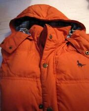 Jack Wills hooded duck down padded gilet burnt orange colour size XS