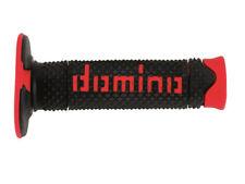 Domino Suave Mano Diamante Motocross Enduro Grips-Negro y Rojo