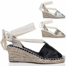 Unbranded Synthetic Wedge Lace-up Heels for Women