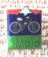 Mountain Magic Cycling pin badge