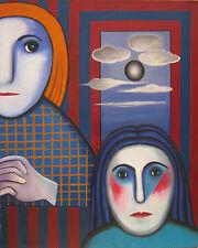 22- HILDA VIDAL Óleo sobre lienzo-Oil on canvas-Öl auf Leinwand-Huile sur toile