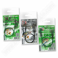Fishing Wire Traces Leader 30cm 18kg 40lb Coated Green Black Sea Pike Tackle