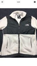 Women's The North Face denali fleece jacket S SMALL white / gray full zip