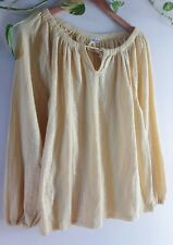 1970s Indian Boho Hippy Embroidered Light Spring/Summer Top Size 10