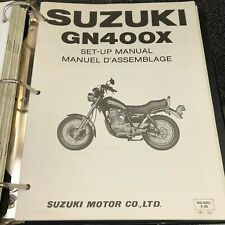 Suzuki Set-Up Manual for GN400X October 1980 Printed in Japan in English