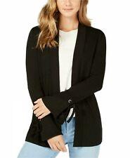 Charter Club Women's Petite Tie-Cuff Cardigan. Black Size Petite Large (1305)