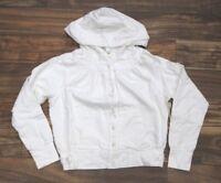 Da-Nang Surplus Women's Sweater Embroidered Drawstring WHITE FTG22731386 X-SMALL