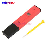 RED Pen Type Waterproof Digital PH Meter Tester LCD Display Meter Tester Pen