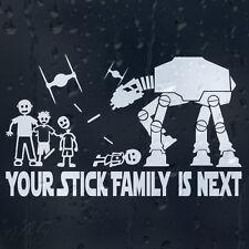Star Wars contra palo familia es próxima Parachoques Ventana Calcomanía Vinilo Sticker