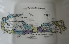 Bermuda Islands Map Decorative English Fine Bone China Open Dish by Paragon