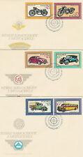 Poland FDC (Mi. 3092-97) Motorcycles & cars #3